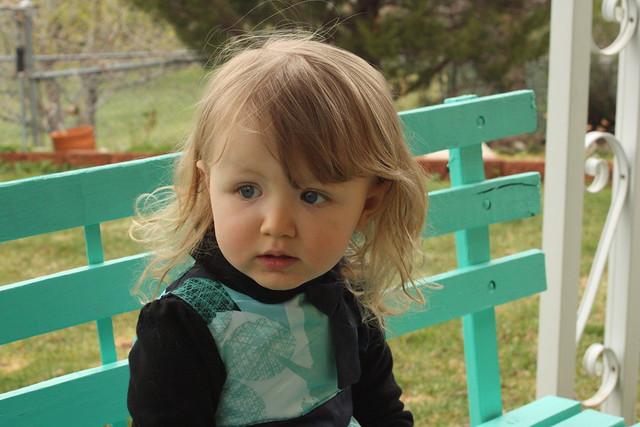 Cordelia on bench 1