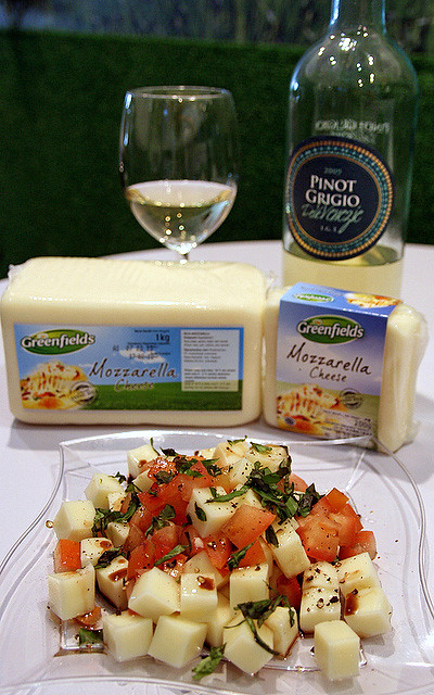 The cheese goes so well with a 2009 Gancia Pinot Grigio