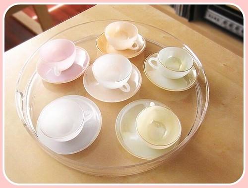 juego tazas té vintage