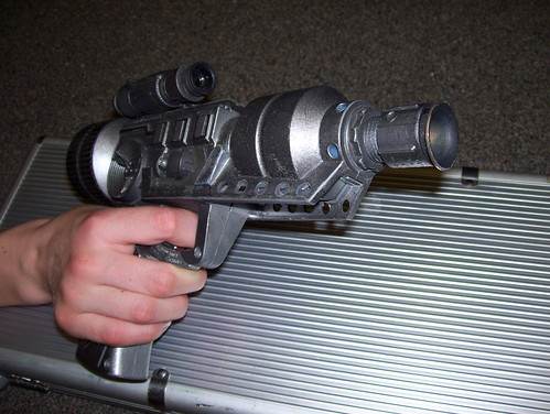 Star Wars props Blaster in hand by broken toys