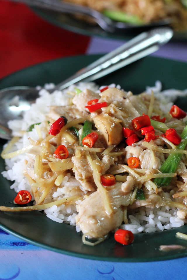 Gai Pad King (Stir Fried Chicken with Ginger) ไก่ผัดขิง