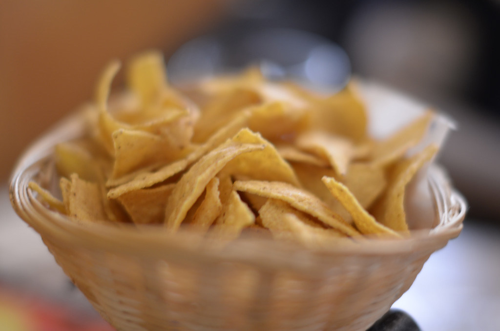 tortilla chips snacks, low fat, unsalted