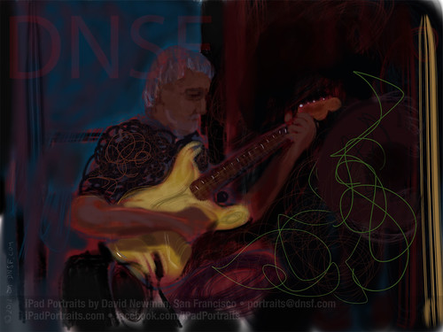 iPad Portrait of Alain Blesing during his Peformance with Senem Diyici and the Mavi Yol Quartet by DNSF David Newman