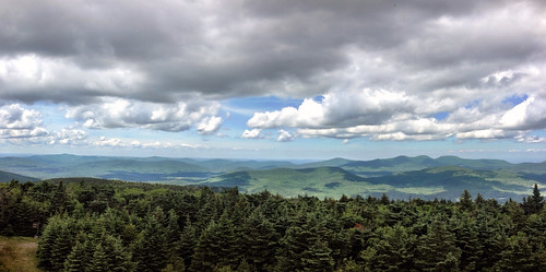 camping trees summer autostitch panorama newyork composite clouds forest hiking wilderness catskills firetower huntermountain iphone blackheadmountain