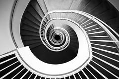 [フリー画像素材] 建築物・町並み, 階段, モノクロ ID:201206220400