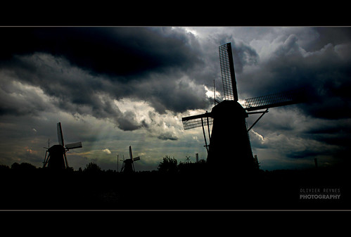 Kinderdijk dark day