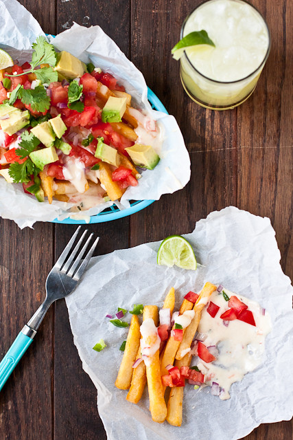Loaded Fries with Chile con Queso