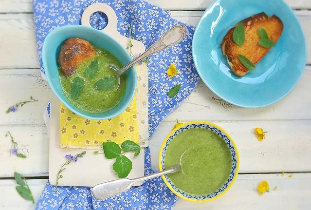 green onion  cream soup.3