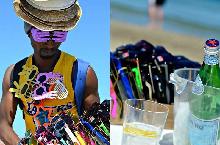 Selling sunnies at Cocobeach, Ibiza