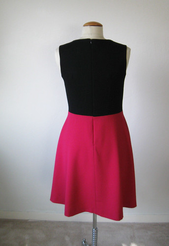 pink black back of dress