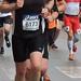 Determined marathon runner