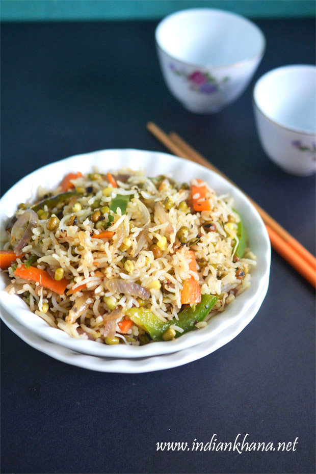 Moong-Sprouts-Fried-Rice-Recipe