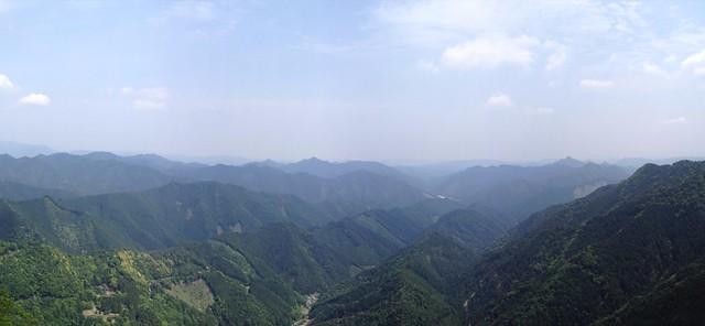 雪彦山 大天井岳からの眺望 パノラマ