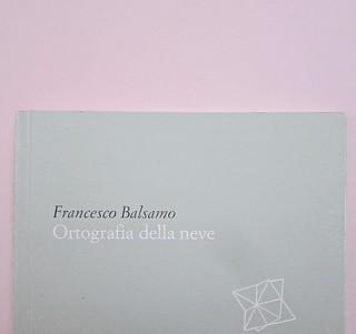 Ortografia della neve, di Francesco Balsamo. incertieditori 2010. Progetto grafico di officina delle immagini. Copertina (part.), 5