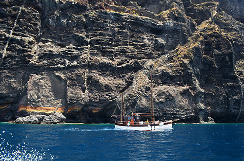Katrin and Los Gigantes cliffs, Tenerife