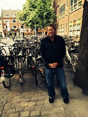Kurt in Utrecht with all those bikes