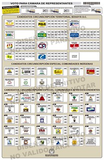 2014 Bogota Chamber Ballot