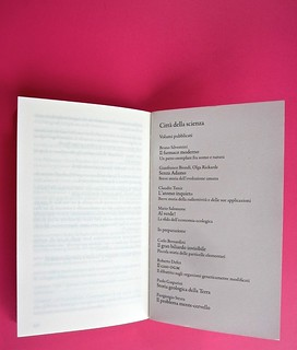 Città della scienza; vol. 1, 2, 3, 4. Carocci editore 2014. Progetto Grafico di Falcinelli & Co. Elenco dei titoli usciti e in preparazione nella collana: a pag. 151 / recto della carta di guardia, vol. 2 (part.) 1