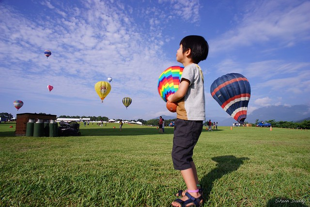 Watching Hot Air Balloon in the Sky