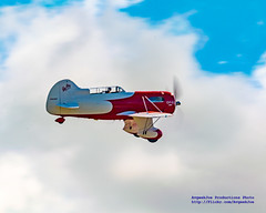 Gee Bee Flying In A Spectacular September