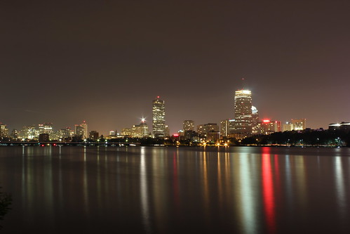 Boston Skyline via Memorial Dr 2