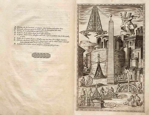 001-Della trasportatione dell'obelisco Vaticano…1590- Doménico Fontana-© Biblioteca Nacional Digital de Portugal
