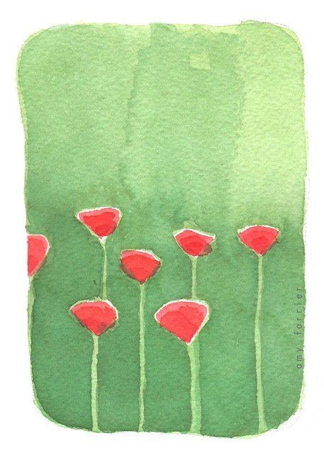 April flowers: poppies