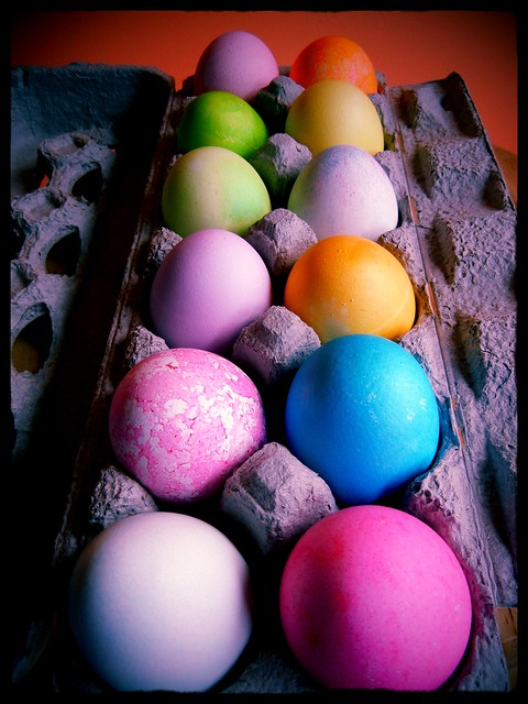 Pretty eggs, all in a row