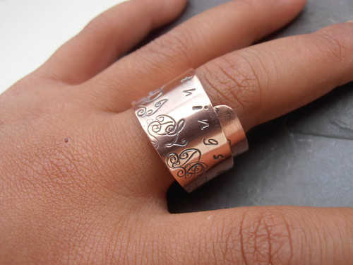 copper wrap ring by greensladejenny