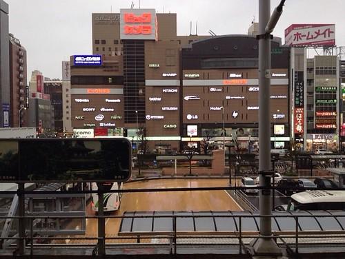 名古屋駅新幹線ホームから見るビックカメラ by haruhiko_iyota