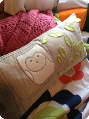 owl pillow from Blackbird in Almonte