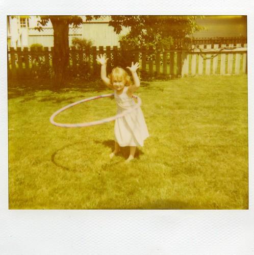 polaroid - Claire + Hula Hoop