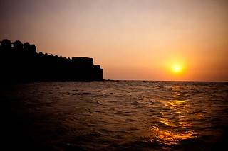 Sunset at Murud Janjira Fort - Near Mumbai.
