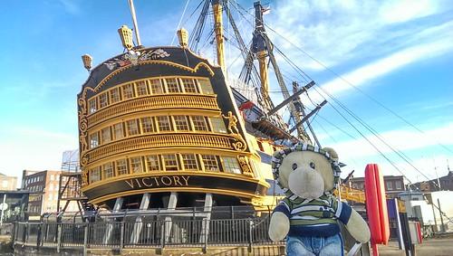 Phil at HMS Victory