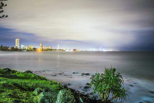 longexposure sea water night landscape lowlight waterreflections slowshutteronwater