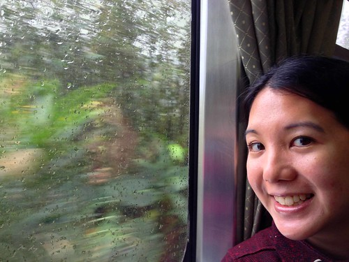 Riding the train on the Pingxi line