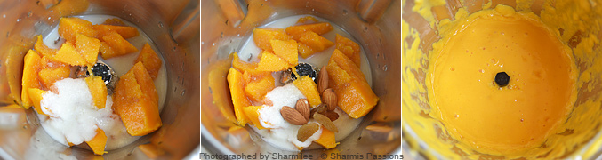 How to make mango smoothie - Step1