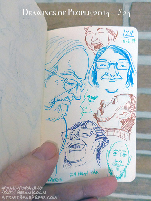 05-06-2014 #dailydrawings #people friend-faces