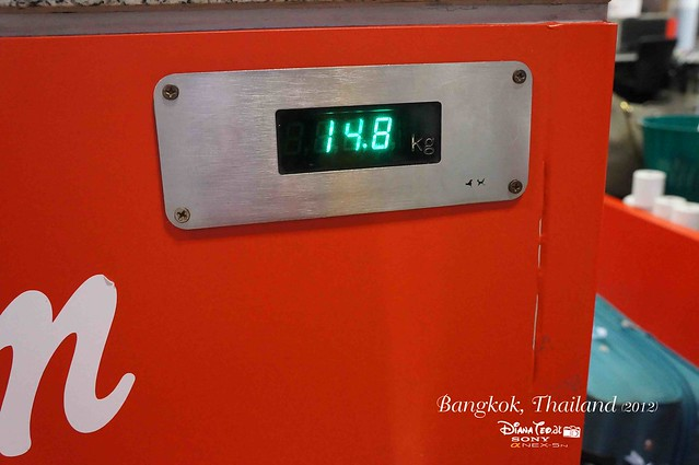 Day 5 Bangkok, Thailand - 04 AirAsia Weighting Scale