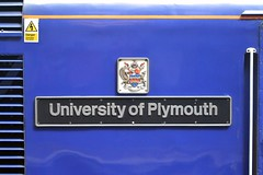"""43 149 """"University of Plymouth"""" nameplate"""