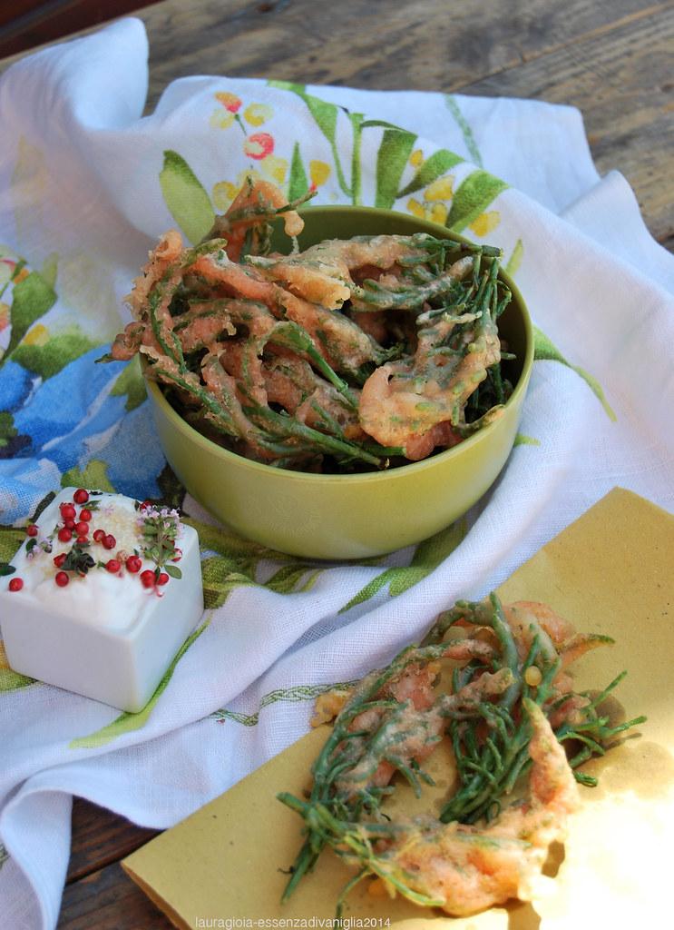 Salicornia (asparago di mare) in tempura