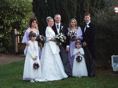 Simon & Claire with Bridesmaids & Best Man Image