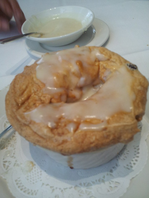 Creole Bread Pudding Souffle with whiskey creme anglaise. | Flickr ...