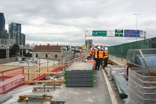 Inspecting the West Gate Freeway viaduct at Kings Way