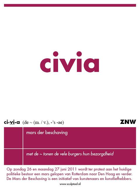 sculptaal EXTRA 25-06-'11 — civía — #marsderbeschaving #mdb #politiek #cultuur #taal @marsbeschaving klik>