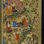 Poem (masnavi), Double-page illustrated frontispiece, Walters Manuscript W.656, fol. 1b