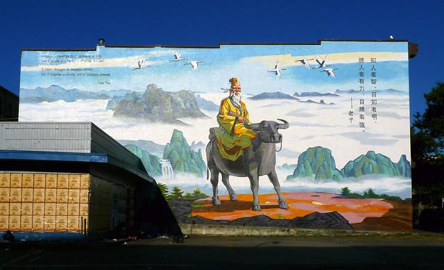Lao Tzu over Chinatown