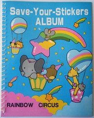 Rainbow Circus Sticker Album Vintage