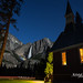 Yosemite Fall Moonbow and Chapel by Kristal Leonard
