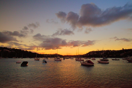Last light over Middle Harbour